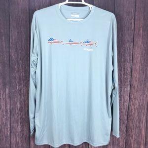 Columbia PFG long sleeve sun protectant shirt